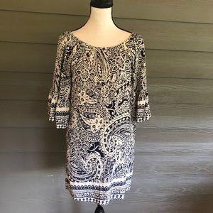 Umgee Boho Dress Bell sleeves Floral  bohemian S